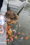 Feeding the Fish at the Banyan Tree